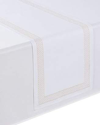 "Waterford Netta Table Runner, White/Champagne, 16"" x 70"""