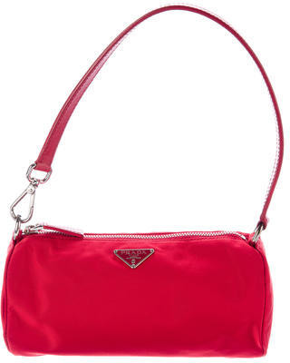 prada Prada Leather-Trimmed Tessuto Bag