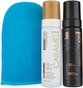Minetan MineTan Absolute x20 and Caramel Self-Tan Foam Duo w/ Mitt