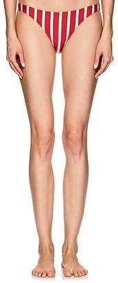 Milly Women's St. Lucia Striped Bikini Bottom