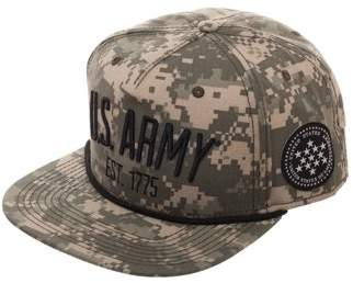 U.S. Army Digital Camo Snapback Hat with Patch and Flat Bill