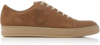 Lanvin Perforated Suede Low-Top Sneakers