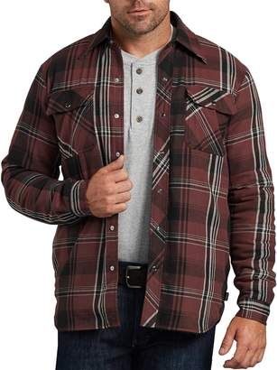 Dickies Men's X-Series Modern-Fit Plaid Snap-Front Shirt Jacket