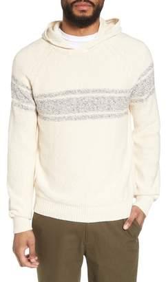 Vince Stripe Hooded Sweater
