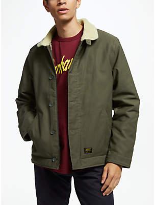 Carhartt WIP Sheffield Borg Lined Collar Jacket, Cypress