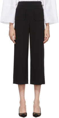 RED Valentino Black High Waist Trousers