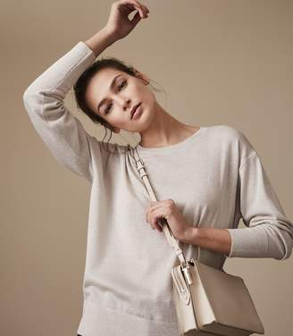 Reiss Emily Metallic Crew-Neck Jumper
