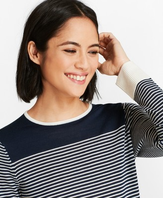 Brooks Brothers Striped Merino Wool Sweater