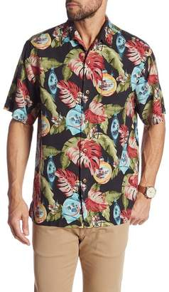 Tommy Bahama With Bells On Short Sleeve Silk Original Fit Shirt