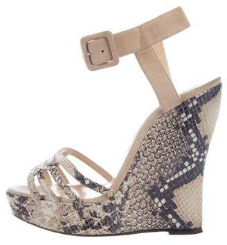 outlet purchase Oscar de la Renta Embossed Wedge Sandals clearance for nice t12Sbp
