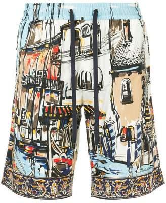 Dolce & Gabbana print drawstring swim-shorts