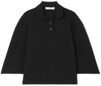 Tibi Wool-blend Top - Black