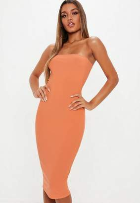 Missguided Bandeau Midi Dress
