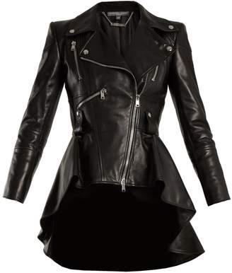 ALEXANDER MCQUEEN Waterfall-hem leather jacket $5,195 thestylecure.com