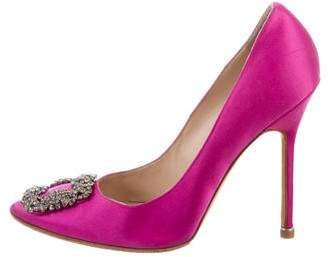 Manolo Blahnik Hangisi Embellished Pumps
