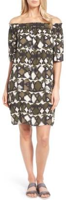Petite Women's Caslon Off The Shoulder Shift Dress $69 thestylecure.com