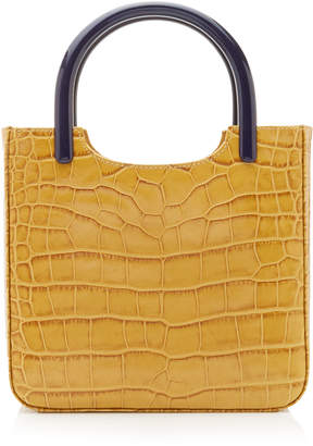 BY FAR Eric Croc-Effect Leather Tote