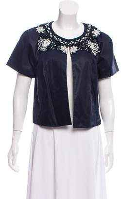 Magaschoni Short Sleeve Embellished Jacket