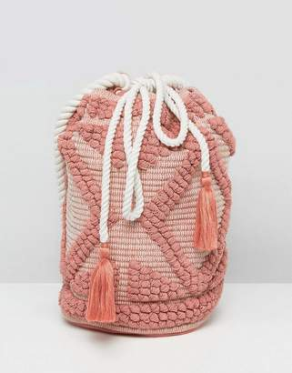 South Beach Drawstring Shoulder Bag In Lullaby Pink $38 thestylecure.com