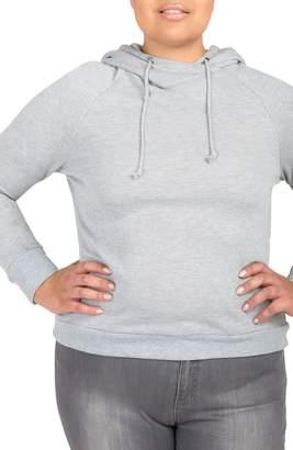 Justice Poetic Back Cutout Hooded Sweatshirt