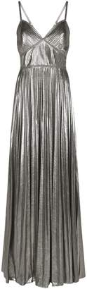 Marchesa Lame Pleated Gown