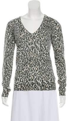 Equipment Animal Print Cashmere Sweater