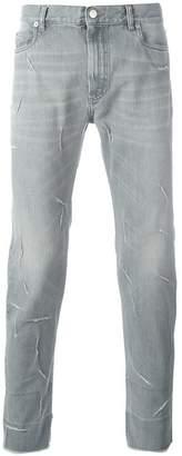 Maison Margiela ripped detailing slim-fit jeans