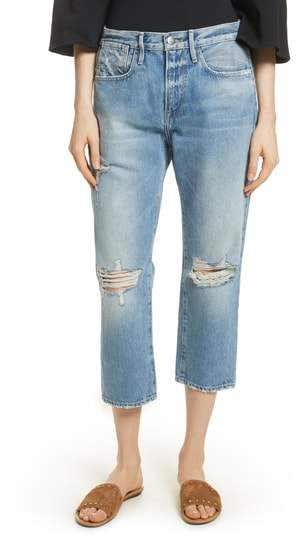 Le Stevie Distressed Crop Jeans