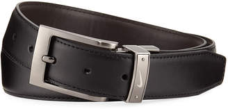Nike Swoosh Reversible Faux Belt, Black/Brown