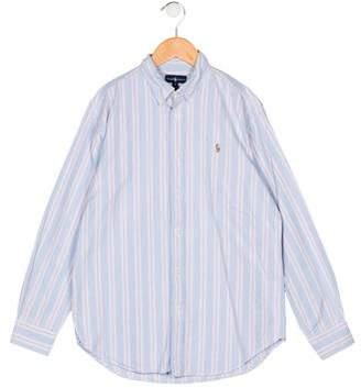 Ralph Lauren Boys' Stripe Button-Up Shirt