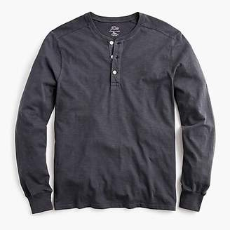 J.Crew Garment-dyed slub cotton henley