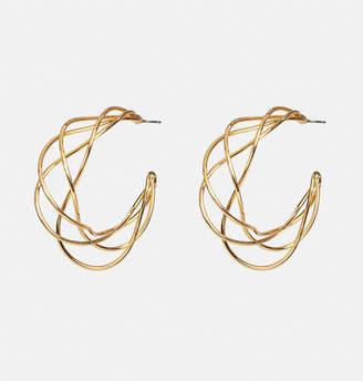 Avenue Gold Wire Hoop Earrings