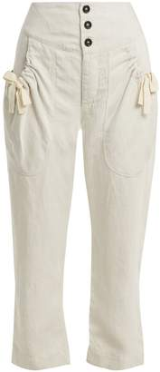 Etoile Isabel Marant Weaver high-rise cropped trousers