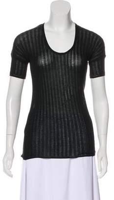 Sonia Rykiel Short Sleeve Rib Knit Top