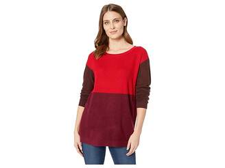 Vince Camuto Long Sleeve Crew Neck Color Block Sweater