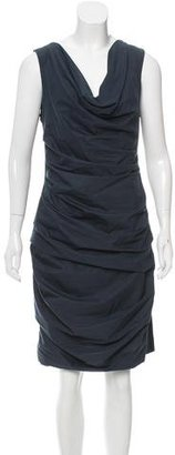 Vera Wang Two-Tone Ruched Dress $95 thestylecure.com