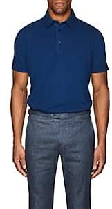 Loro Piana Men's Cotton Piqué Polo Shirt - Blue