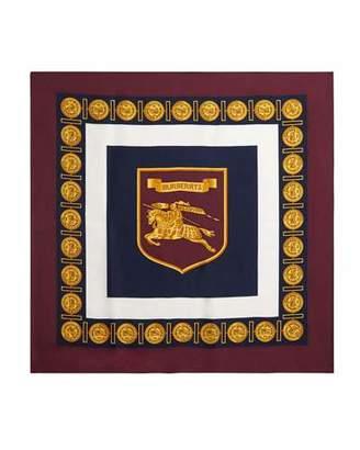 Burberry Medallion Border Boxed Silk Scarf