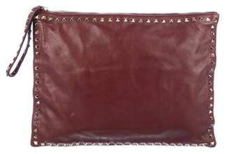 Valentino Large Rockstud Wristlet Clutch