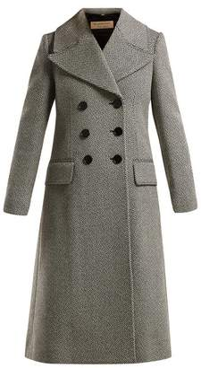 Burberry Aldemoor Wool Blend Twill Coat - Womens - Black White