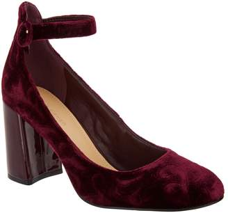 Marc Fisher Novelty Print Pumps with Ankle Strap - Issa