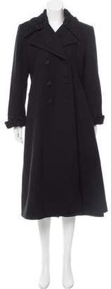 Halston Long Wool Coat