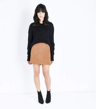 New Look Tan Suedette A-Line Mini Skirt