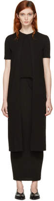 Rosetta Getty Black Long Split Panel T-Shirt