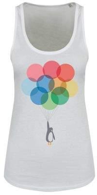 Original Penguin Grindstore & Balloons Floaty White Womens Vest 10