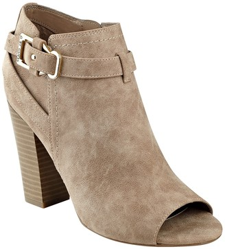 G by GUESS Julep Peep Toe Heel Bootie $79 thestylecure.com