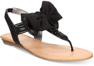 Material Girl Swan Flat Thong Sandals, Created for Macy's Women's Shoes