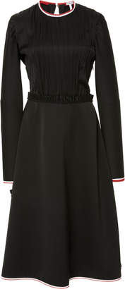 Loewe Pleated Crepe de Chine Midi Dress