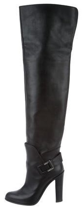 Sergio Rossi Leather Thigh-High Boots