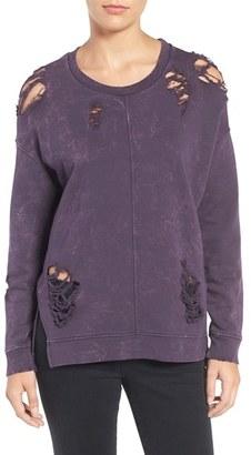Women's Joe's Jeans Bibiana Destroyed Sweatshirt $148 thestylecure.com
